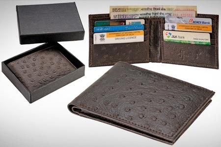 Rs.599 for a Hashtag Dark Brown Ostrich Wallet